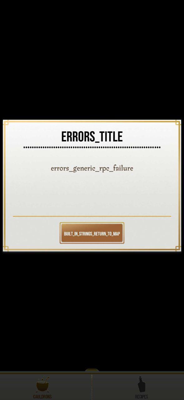 HPWU Generic Error