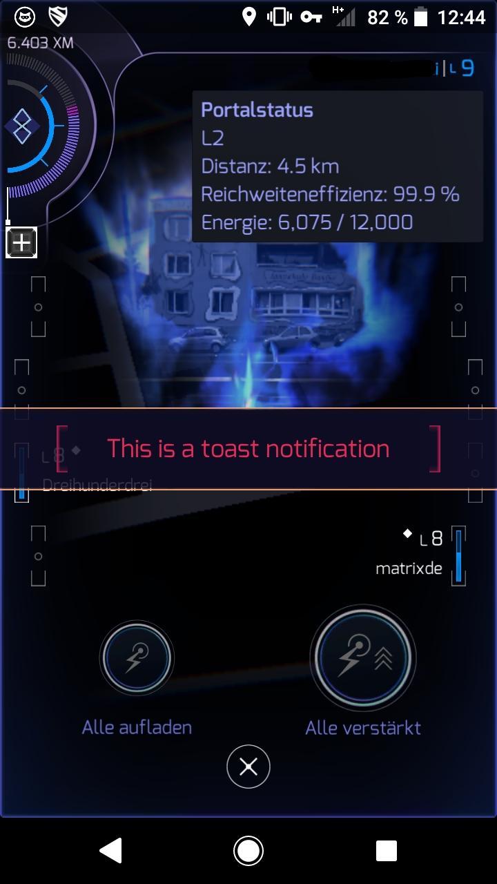 Example Toast Notification